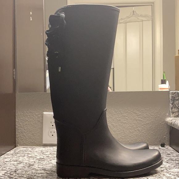 Coach equestrian rain boots
